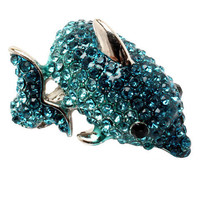 Pree Brulee - Blue Tourmaline Dolphin Ring