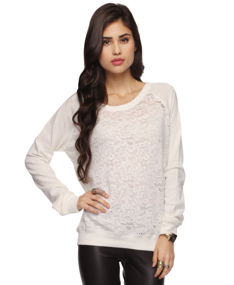 Floral Lace Raglan Top