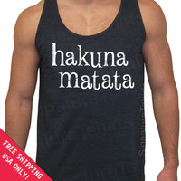 Hakuna Matata Tri-Blend Tank American Apparel UNISEX S, M, L, XL more colors