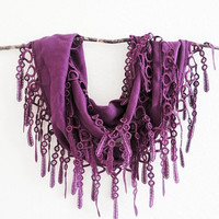 Summer Sale Palatinate Purple Pashmina Lace Scarf