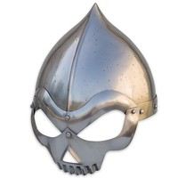 Skull Cap Steel Helmet w/ Spiked Top