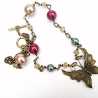 Enchanted Butterfly  Handmade Original Charm Necklace by KIMMSMITH