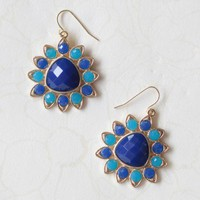 spinning gem earrings in blue at ShopRuche.com