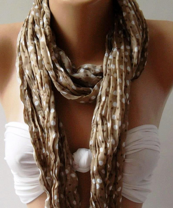Beige - Elegance - Cotton Shawl  Scarf....Summer...Womann Design...