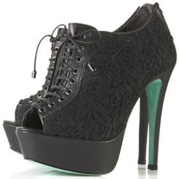 **MAGDA Lace Up Booties by CJG - Heels  - Shoes