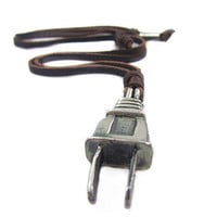 soft leather necklace plug pendant men leather long necklace, women leather necklace  PL0226
