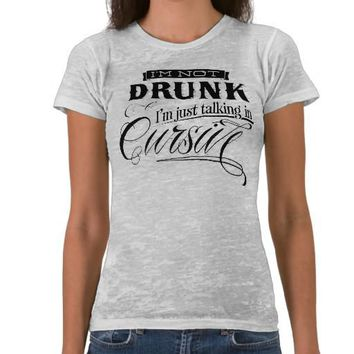 Talking In Cursive T-shirts from Zazzle.com