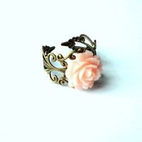 Rose Filigree Ring