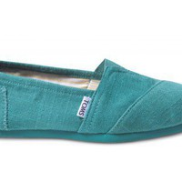 Blue Green Tharp Women&#x27;s Linen Classics
