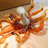 Blown Glass Pipe - Octopus Pipe