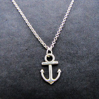 ancient vintage style silvery anchor pendant women collarbone necklace short necklace XL116