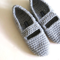 Crochet Mary Jane Slippers For Wome.. on Luulla