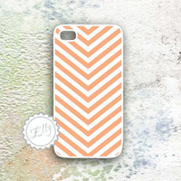 cute personalized iphone peach arrow chevron case iPhone4 4s -  cover