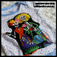 UPCYCLED Punk Rock  Day of the Dead Gender by RockerByeBaby