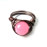 Pink Alexandrite Wrapped Ring