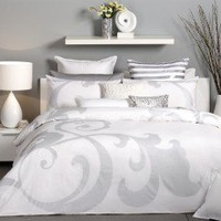 Jasper White Quilt Cover by Logan & Mason - Quilt & Doona Covers - Bed Linen