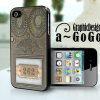 Post Office Box Door, Iphone 4 case, original design, custom cell phone case