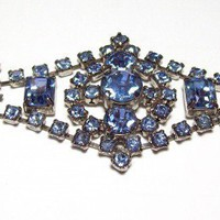 Vintage La Rel Sky Blue Rhinestone Bracelet