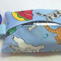 Tissue Holder, Tissue Cozy, Raining Cats and Dogs