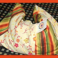 Therapeutic Rice Bag and Cover FLOWERS AND STRIPES