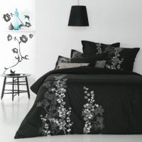 Esha Black Quilt Cover by Ardor Boudoir - Quilt & Doona Covers - Bed Linen