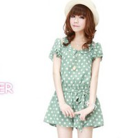 Innocent Summer Polka Dots Romper