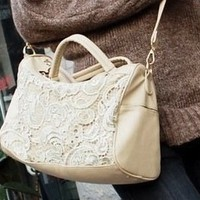 Victorian Vintage Ivory Crossbody Bag