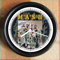 MASH TV SERIES Cast  famous 10 inch Resin Wall Clock Movies Under 25.00   Custom Clocks too- any subject- Contact Me Geekery