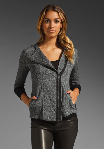 Jack by BB Dakota Tilda Marled French Terry Hoodie in Dark Heather Grey from REVOLVEclothing.com