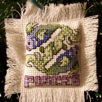 Pisces mini pillow ornament
