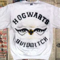 NEW White Hogwarts Quidditch Crewneck Sweater (Sizes:  L)