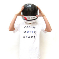 Unisex OCCUPY OUTER SPACE Tee Shirt | Shadowplaynyc | Space inspired clothing in nebula and galaxy prints