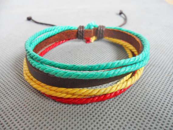 jewelry bangle leather bracelet ropes bracelet women bracelet men bracelet girl bracelet with leather and ropes bracelet cuff ,SH-0642