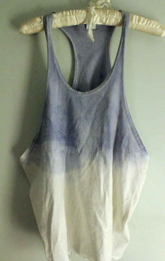 Blue and White Ombre Tank
