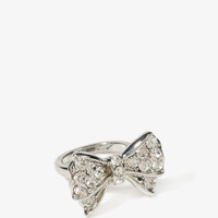 Rhinestoned Bow Ring
