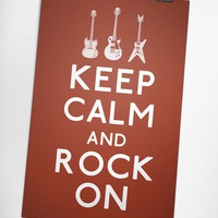 Keep Calm and Rock On 8 x 10 Print by KeepCalmArsenal on Etsy