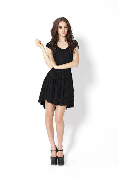 Evil Cheerleader Lace Dress | Black Milk Clothing