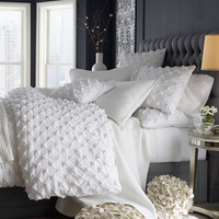 """Puckered Diamond"" Bed Linens - Horchow"