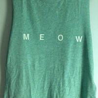 Sea Foam Green &#x27;Meow&#x27; Tank