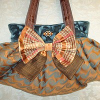 Boho Carpet Bag With Silk Bow And V.. on Luulla