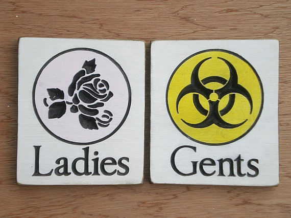 Http Wanelo Com P 1713505 Restroom Signs His And Hers Ladies And Gents