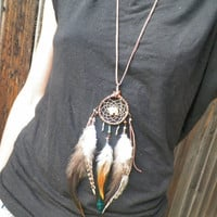 mato... a spirit bear dream catcher necklace