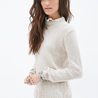 FOREVER 21 Lace-Trimmed Sweater