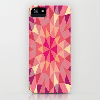Warm Pink Retro Geometry iPhone & iPod Case by 2sweet4words Designs