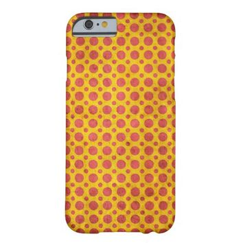Cute Antique Yellow Red Grunge Polkadot Pattern iPhone 6 Case