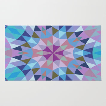 Lavender Retro Geometry Area & Throw Rug by 2sweet4words Designs