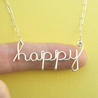 happy necklace by PianoBenchDesigns on Etsy