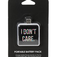 I Don't Care Portable Battery Pack