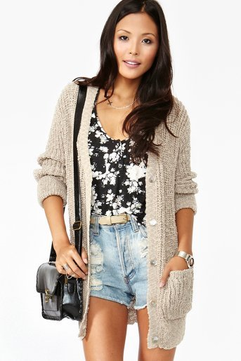 Textured Knit Cardi