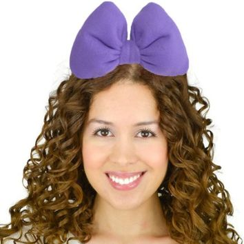 Sweet in the City Purple Daisy Duck and Minnie Mouse Inspired Headband Hair Bow Big Large Oversize Statement Unique Fashion Accessories